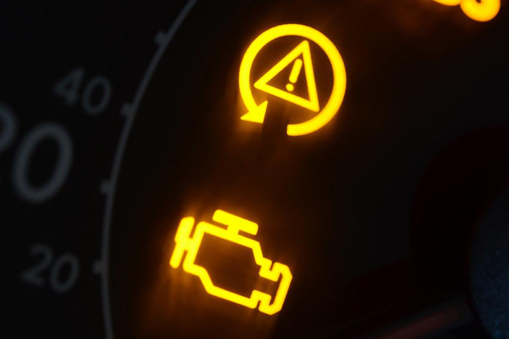 dash board lights on car