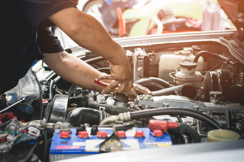 Car Repairs under car bonnet